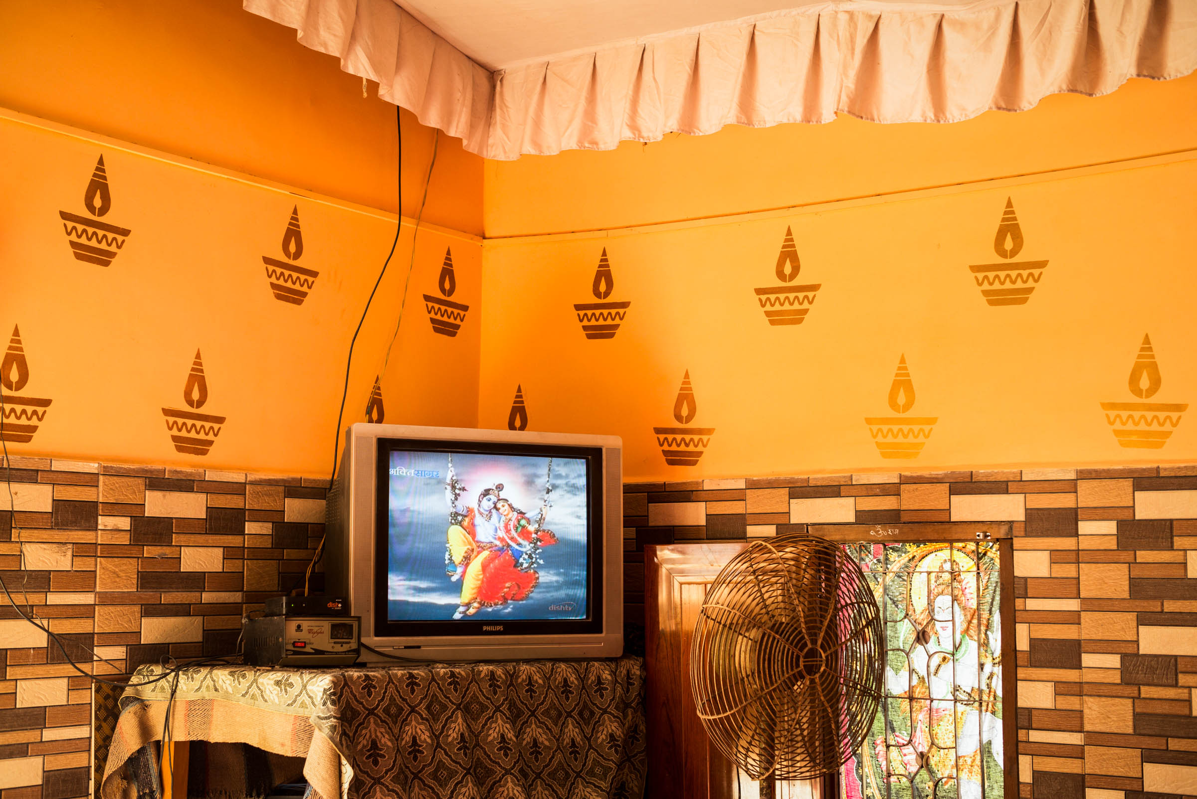 Radha and Krishna on Television, Neelkanth, India, 2016.