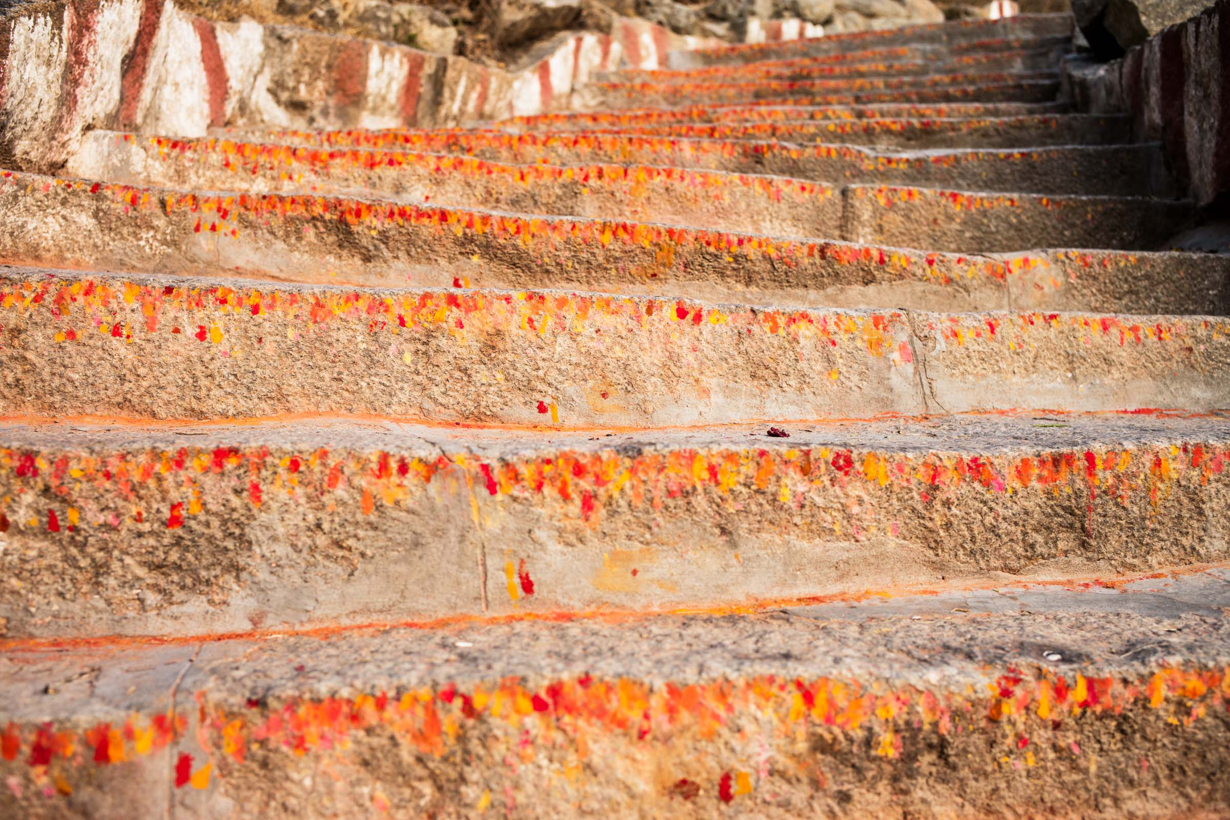 Chamundi Temple Steps, Mysore, India, 2016.